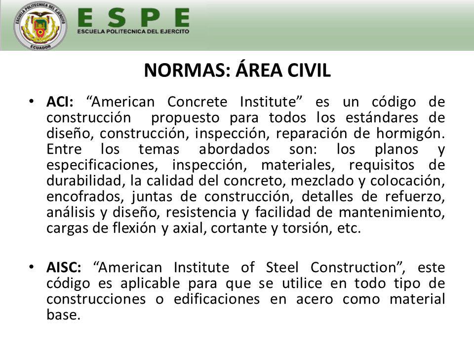 NORMAS: ÁREA ELÉCTRICA IEEE: es una de los principales códigos en el mundo.