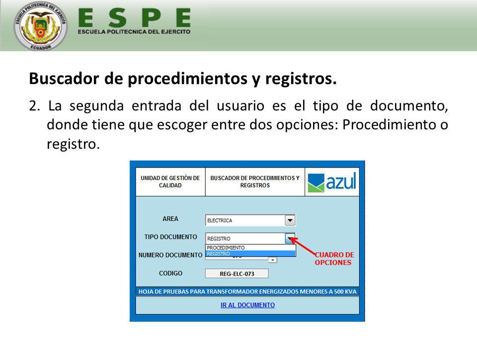 Buscador de procedimientos y registros.3.
