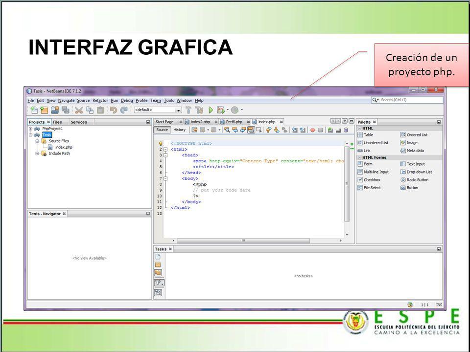 Creación de un proyecto php.