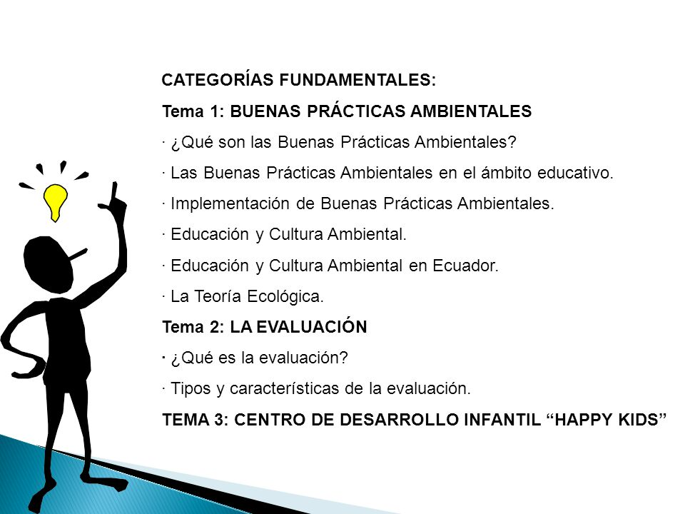 CATEGORÍAS FUNDAMENTALES: Tema 1: BUENAS PRÁCTICAS AMBIENTALES · ¿Qué son las Buenas Prácticas Ambientales? · Las Buenas Prácticas Ambientales en el á