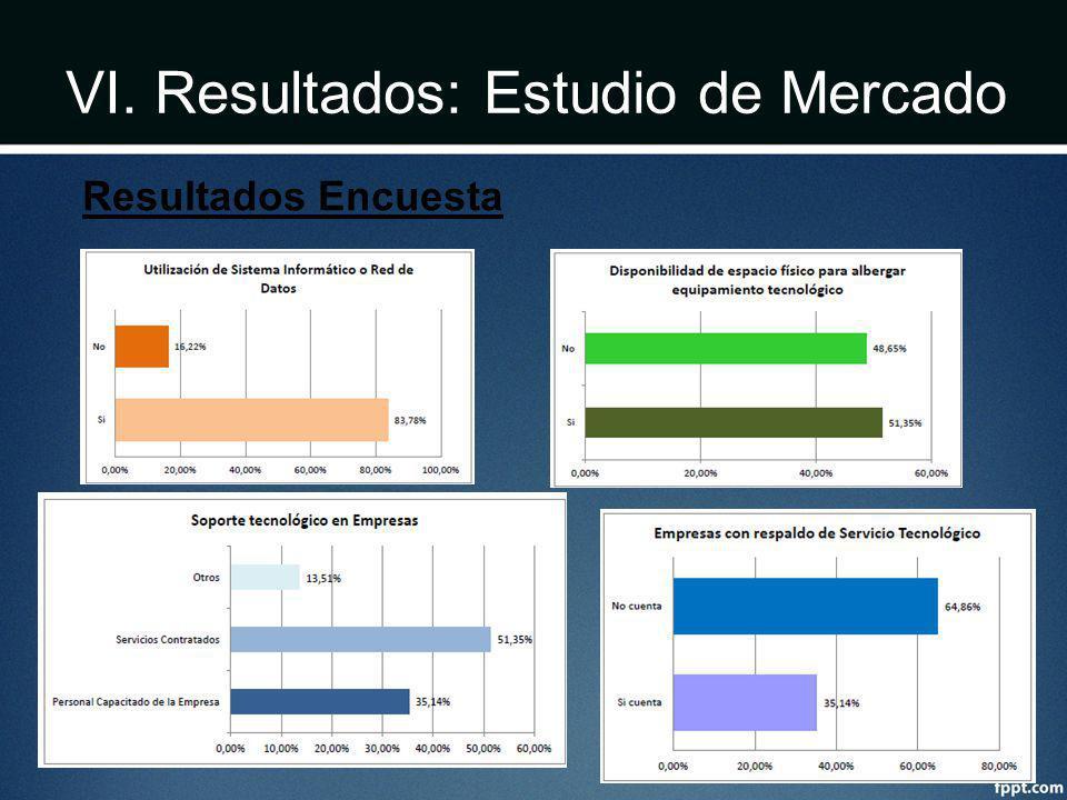 VI. Resultados: Estudio de Mercado Resultados Encuesta