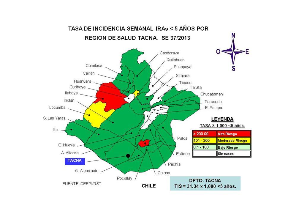 SALA SITUACIONAL DIRECCION REGIONAL DE SALUD- TACNA SE 37 2013 ( 08 al 14 de setiembre, 2013) Mayor información: epitacna@dge.gob.pe – Teléfono: 052-242595epitacna@dge.gob.pe DIRECCIÓN EJECUTIVA DE EPIDEMIOLOGÍA