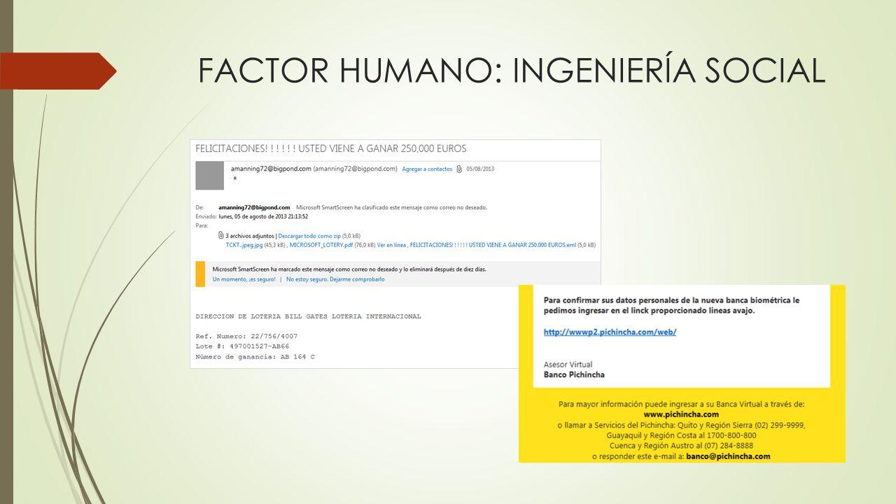 FACTOR HUMANO: INGENIERÍA SOCIAL