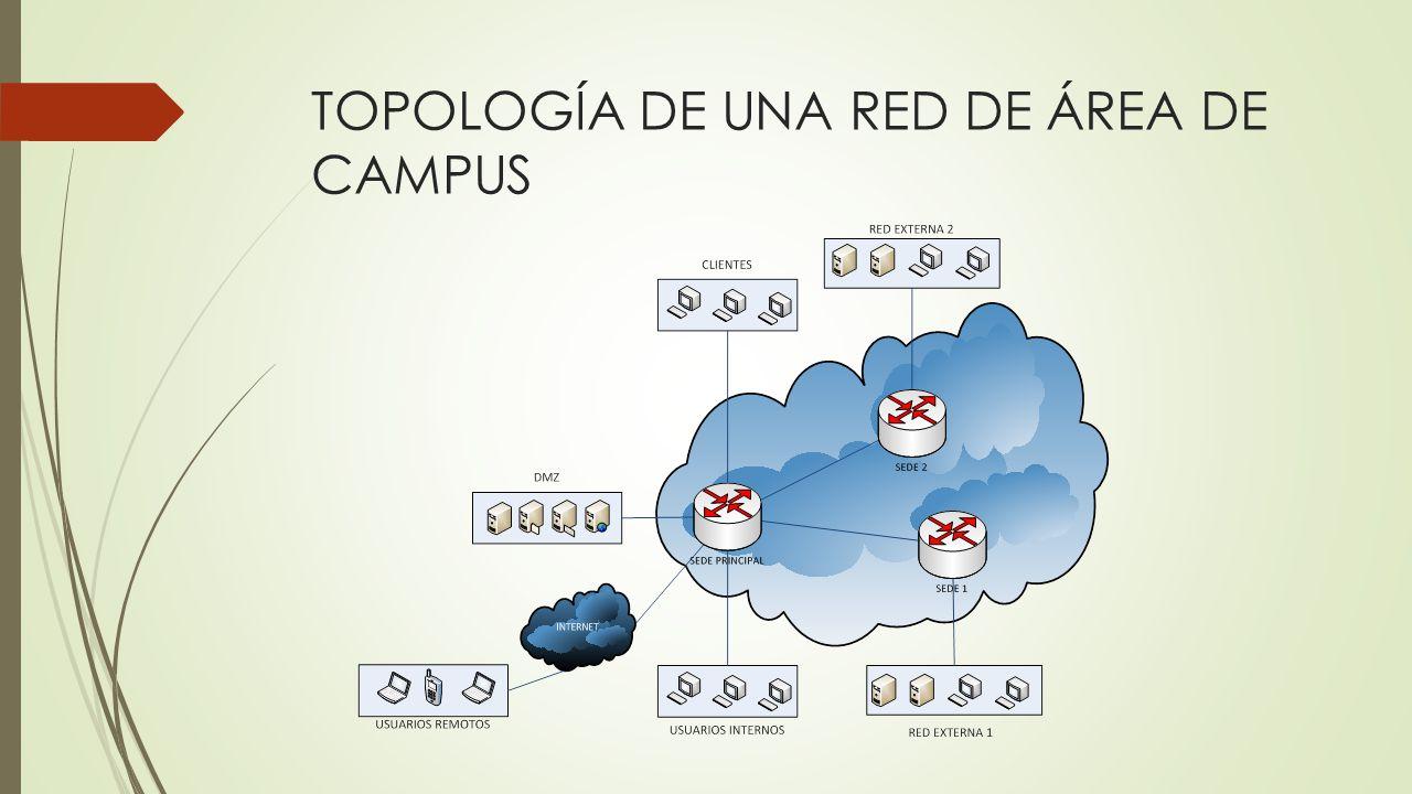 TOPOLOGÍA DE UNA RED DE ÁREA DE CAMPUS