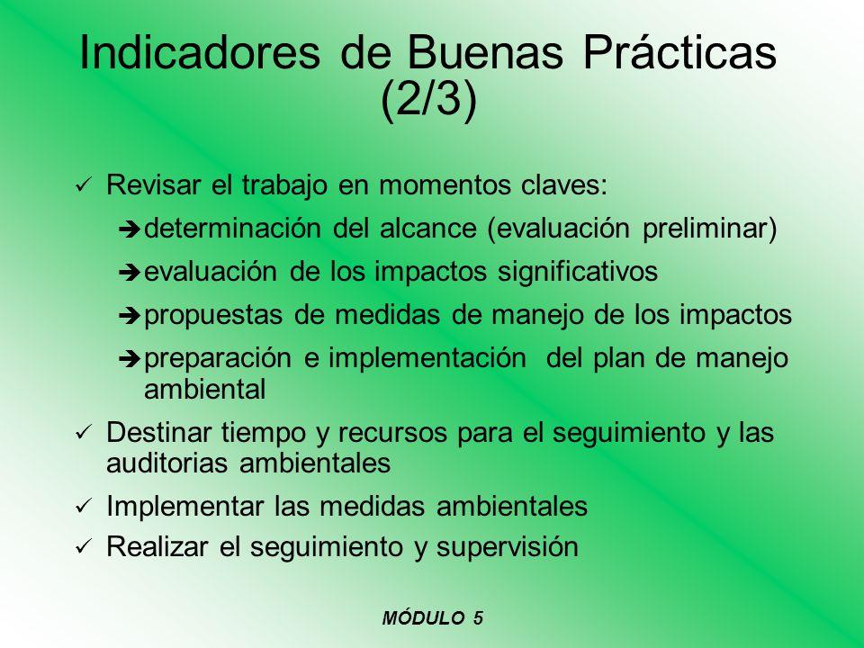 Revisar el trabajo en momentos claves: determinación del alcance (evaluación preliminar) evaluación de los impactos significativos propuestas de medid