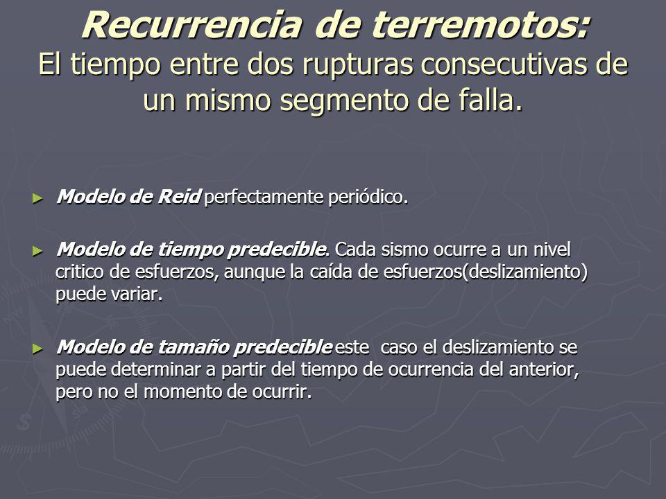 Segmentación de una falla : Es la identificación de los segmentos individualizados con el mismo carácter, continuidad y orientación.