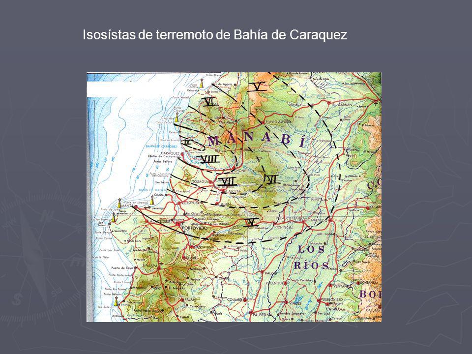 Localización Terremoto Histórico. Terremoto Histórico. - Si se dispone de mapa de isosista se estudia la zona de mayor intensidad.Se asigna el epicent