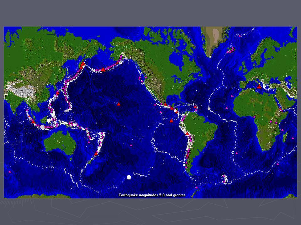 Distribución espacial de terremotos. Distribución de epicentros de una zona. Distribución de epicentros de una zona. -Diferenciación de periodos por s