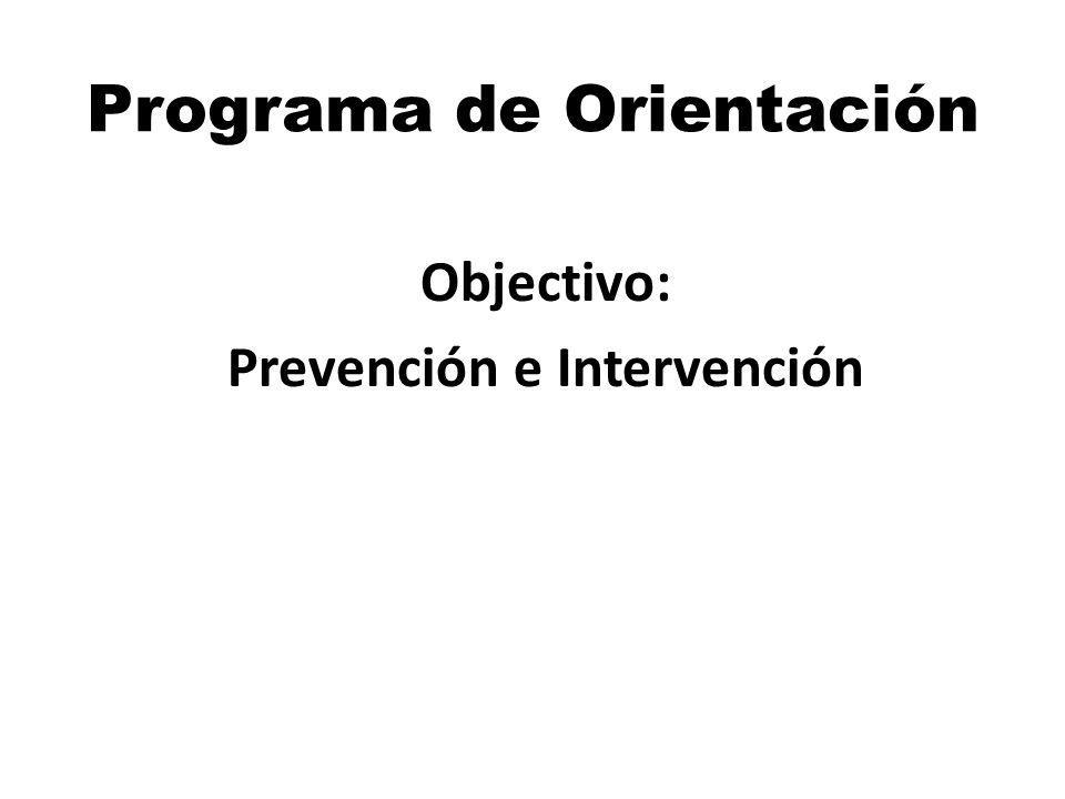 Programa de Orientación Objectivo: Prevención e Intervención