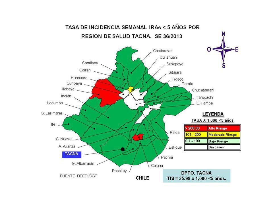 SALA SITUACIONAL DIRECCION REGIONAL DE SALUD- TACNA SE 36 2013 ( 01 al 07 de setiembre, 2013) Mayor información: epitacna@dge.gob.pe – Teléfono: 052-242595epitacna@dge.gob.pe DIRECCIÓN EJECUTIVA DE EPIDEMIOLOGÍA