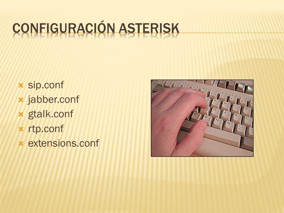 sip.conf jabber.conf gtalk.conf rtp.conf extensions.conf