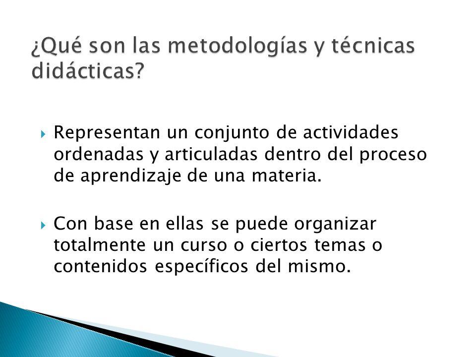 Representan un conjunto de actividades ordenadas y articuladas dentro del proceso de aprendizaje de una materia. Con base en ellas se puede organizar