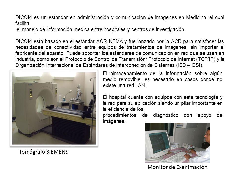 DICOM es un estándar en administración y comunicación de imágenes en Medicina, el cual facilita el manejo de información medica entre hospitales y cen