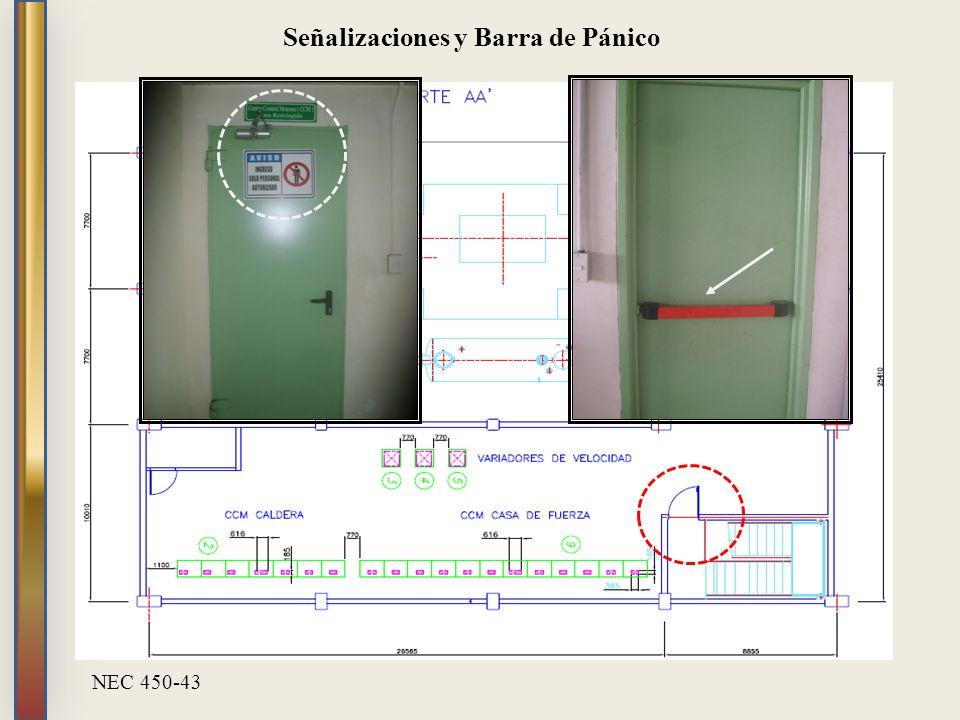 Señalizaciones y Barra de Pánico NEC 450-43