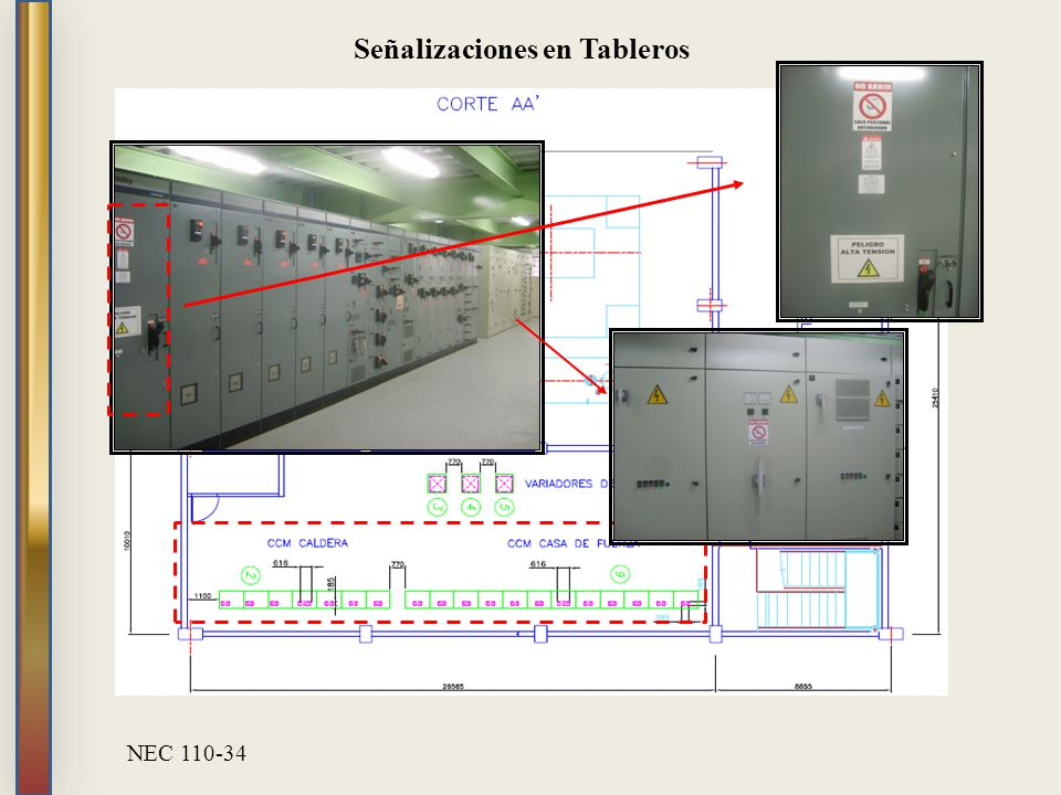 Señalizaciones en Tableros NEC 110-34