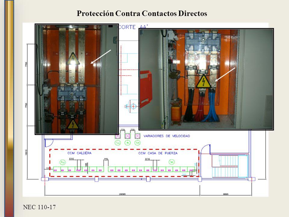 Protección Contra Contactos Directos NEC 110-17