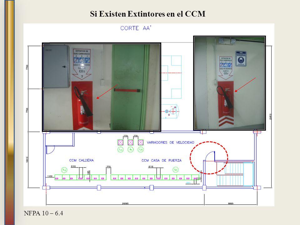 Si Existen Extintores en el CCM NFPA 10 – 6.4