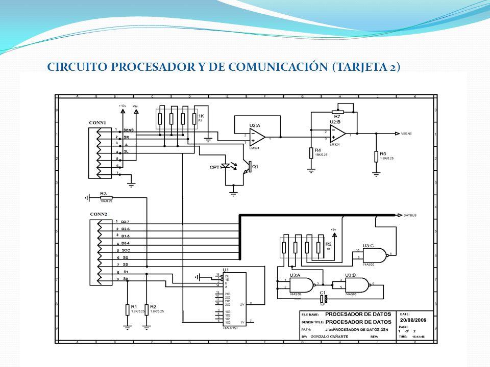CIRCUITO PROCESADOR Y DE COMUNICACIÓN (TARJETA 2)