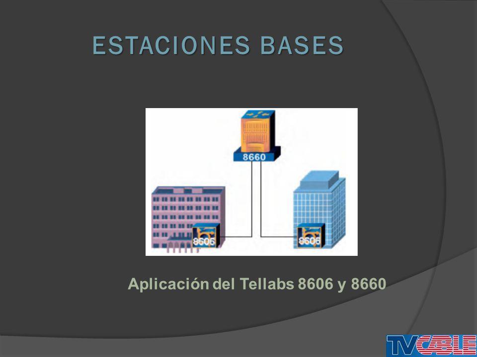 ESTACIONES BASES Aplicación del Tellabs 8606 y 8660