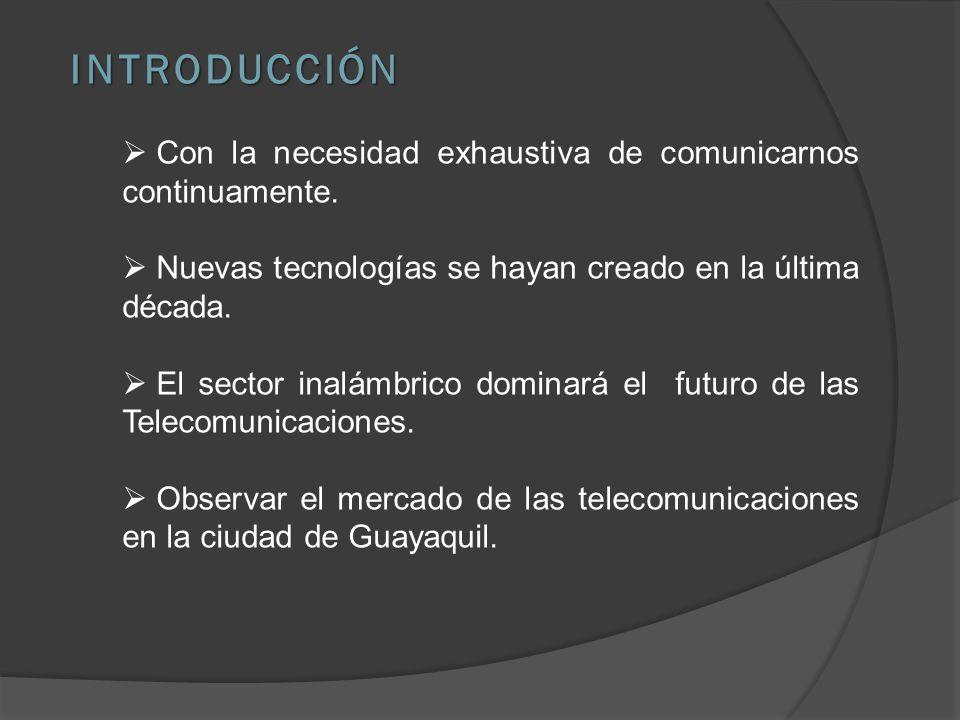 INTRODUCCIÓN Con la necesidad exhaustiva de comunicarnos continuamente.