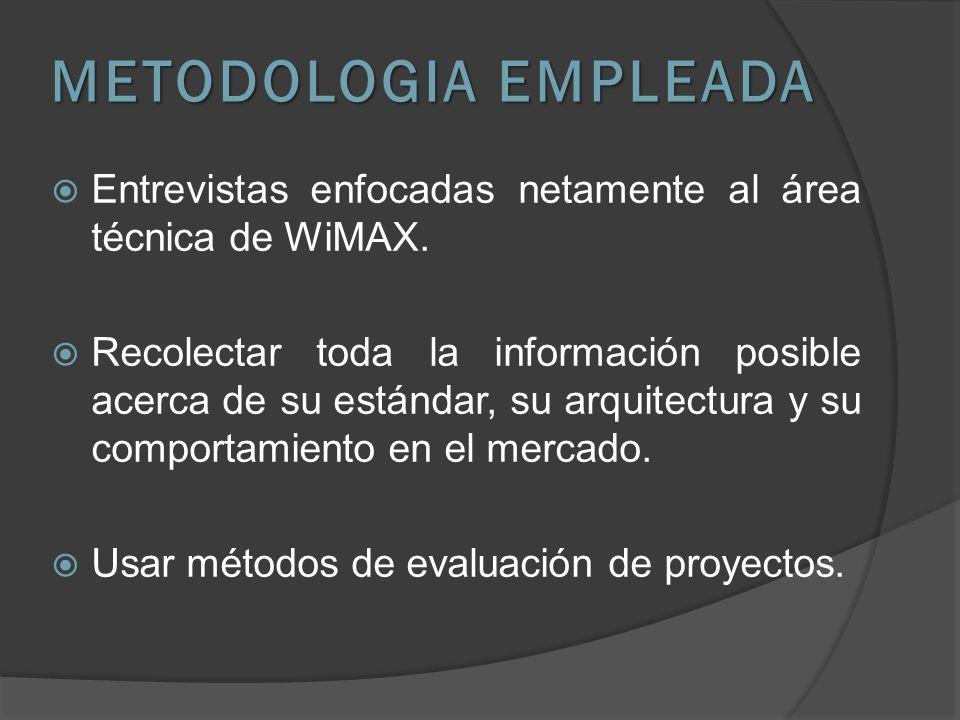 TECNOLOGIA WiMAX PARA INTERNET Y VOZ
