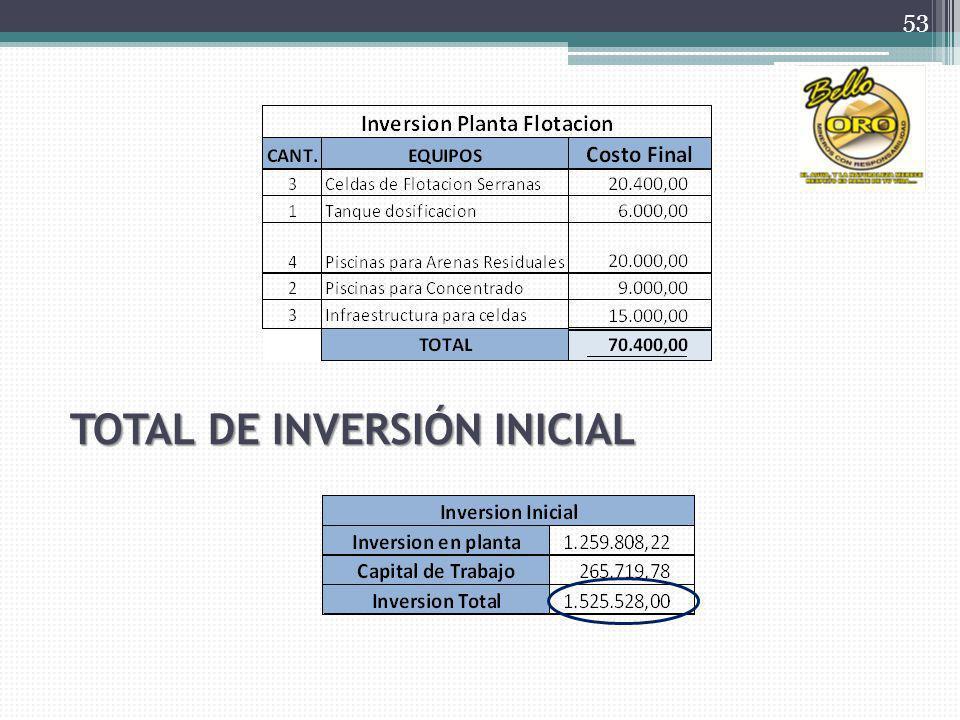 TOTAL DE INVERSIÓN INICIAL 53
