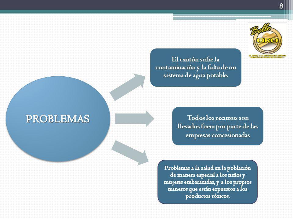 Extracción del mineral Alimentación del mineral Transportación del mineral a las maquinarias Proceso de lixiviación Proceso de agitación (24H) Proceso de flotación Proceso de elución Secado del material Fundido del material Desintegración Obtención del producto DESCRIPCIÓN DEL PROCESO