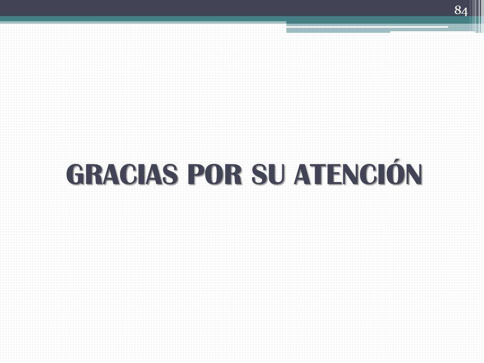 GRACIAS POR SU ATENCIÓN 84