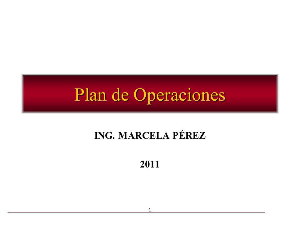 1 Plan de Operaciones ING. MARCELA PÉREZ 2011