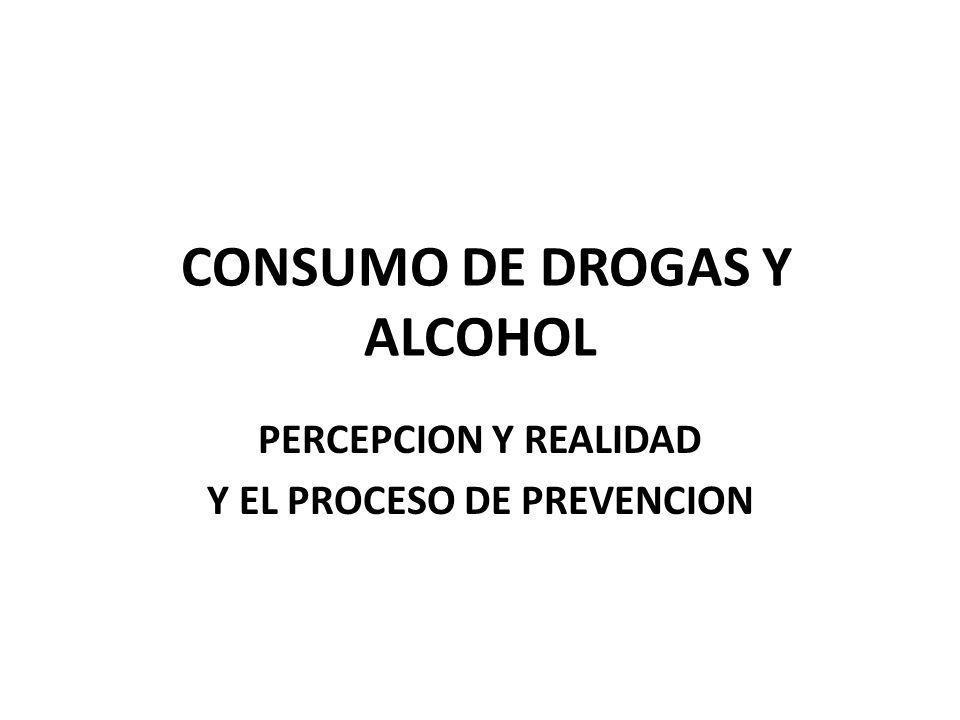 CONSUMO DE DROGAS Y ALCOHOL PERCEPCION Y REALIDAD Y EL PROCESO DE PREVENCION