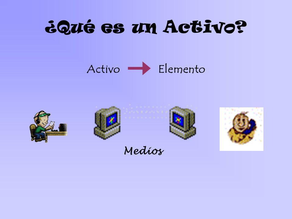 ¿Qué es un Activo? ActivoElemento Medios