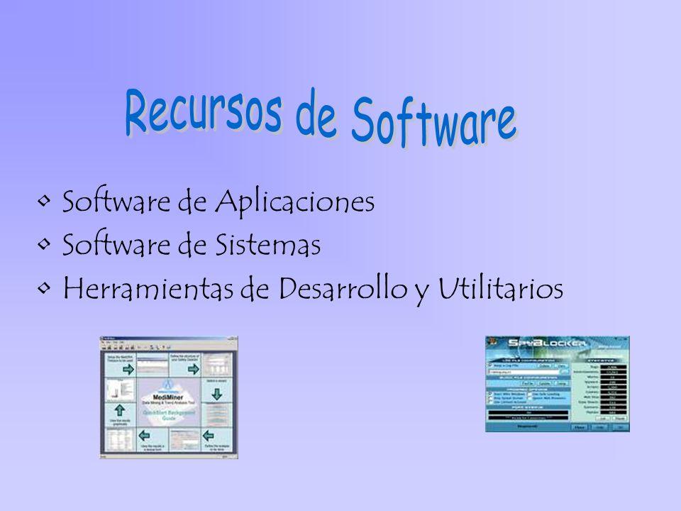 Software de Aplicaciones Software de Sistemas Herramientas de Desarrollo y Utilitarios