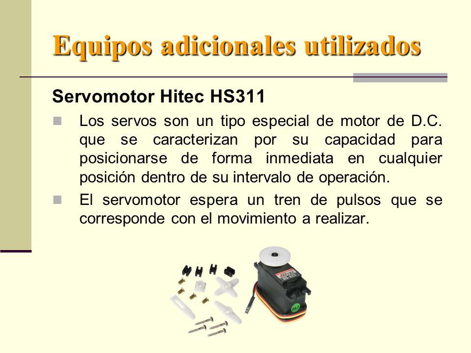 Equipos adicionales utilizados Servomotor Hitec HS311 Los servos son un tipo especial de motor de D.C.