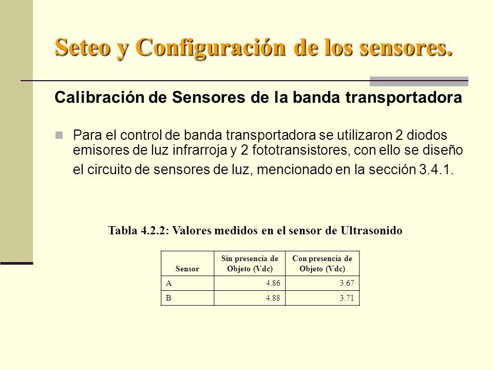 Seteo y Configuración de los sensores.