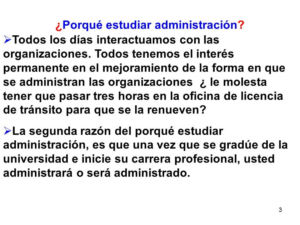 44 EL PAPEL DEL ADMINISTRADOR ¿Qué hacen los administradores.