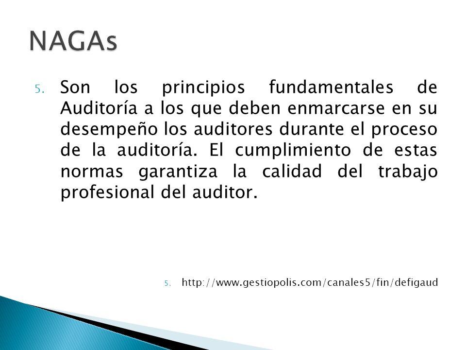 5. Son los principios fundamentales de Auditoría a los que deben enmarcarse en su desempeño los auditores durante el proceso de la auditoría. El cumpl