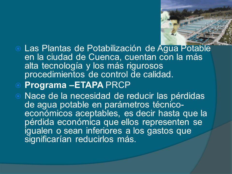 Las Plantas de Potabilización de Agua Potable en la ciudad de Cuenca, cuentan con la más alta tecnología y los más rigurosos procedimientos de control