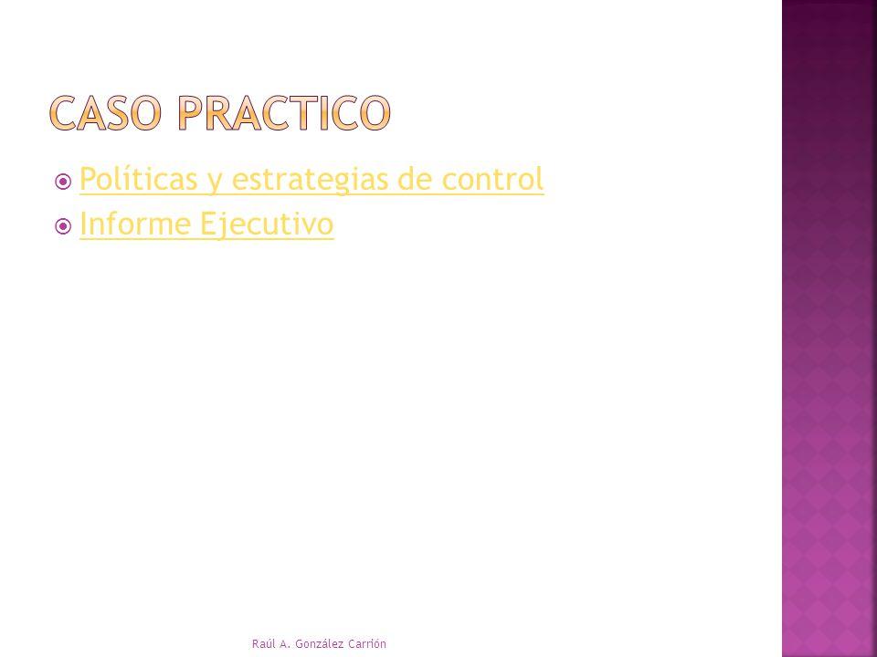 Políticas y estrategias de control Informe Ejecutivo Raúl A. González Carrión
