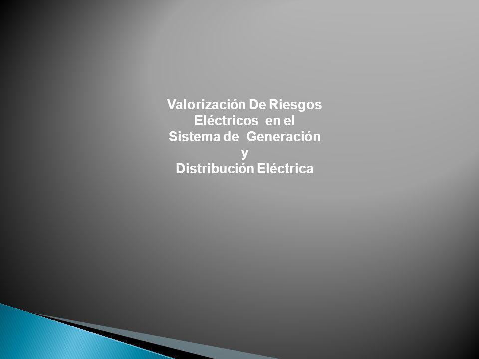 Valorización De Riesgos Eléctricos en el Sistema de Generación y Distribución Eléctrica