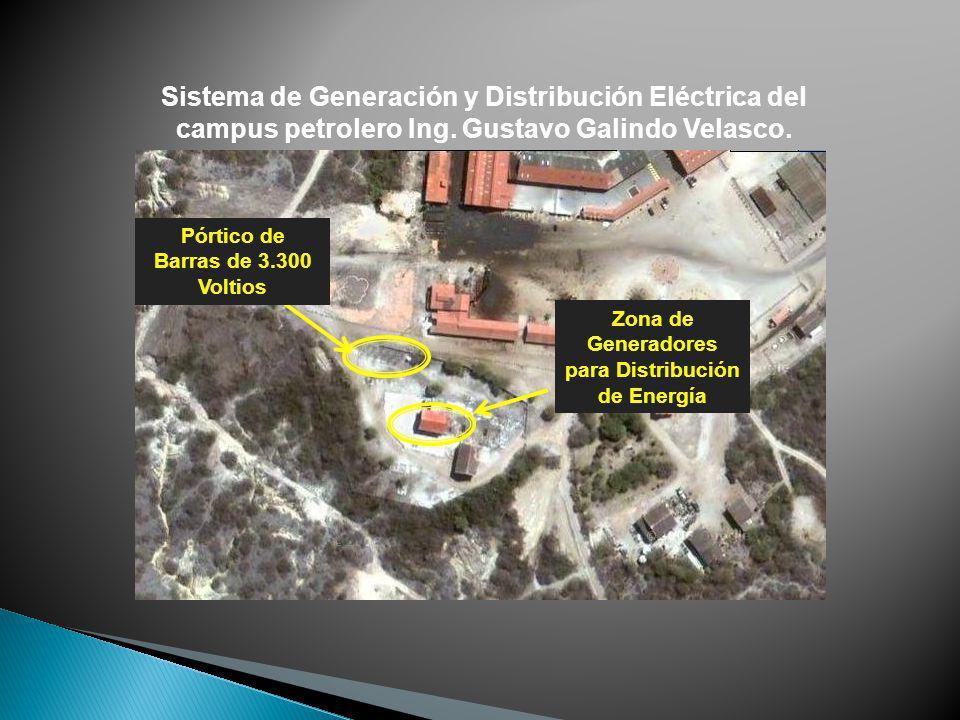 Sistema de Generación y Distribución Eléctrica del campus petrolero Ing. Gustavo Galindo Velasco. Zona de Generadores para Distribución de Energía Pór