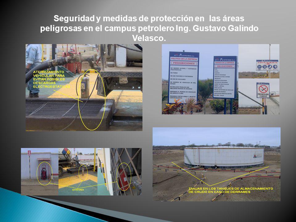 Seguridad y medidas de protección en las áreas peligrosas en el campus petrolero Ing. Gustavo Galindo Velasco.