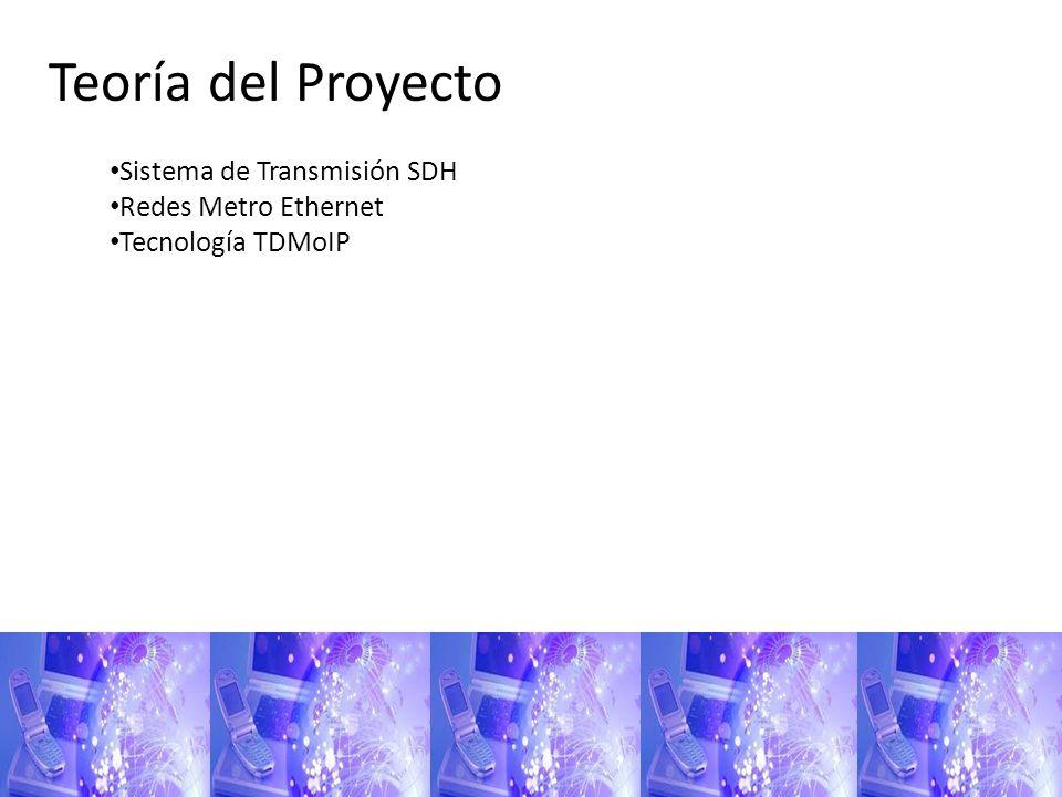 Teoría del Proyecto Sistema de Transmisión SDH Redes Metro Ethernet Tecnología TDMoIP