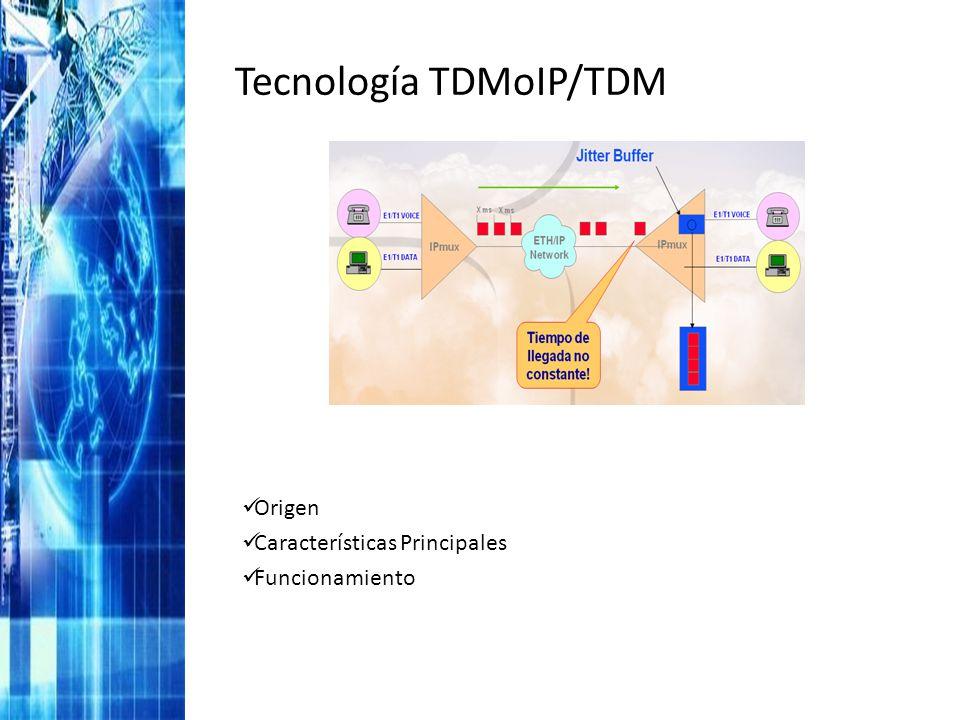 Tecnología TDMoIP/TDM Origen Características Principales Funcionamiento