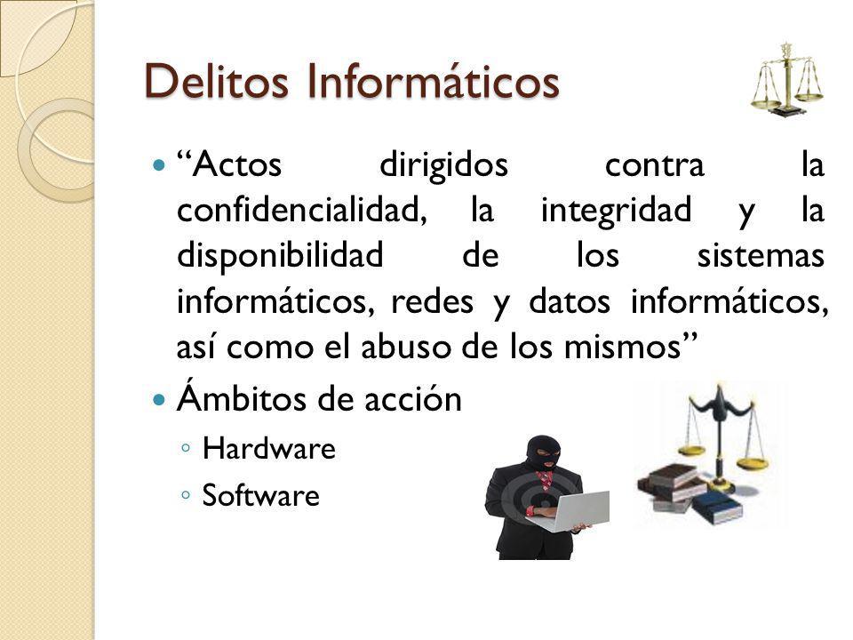 Delitos Informáticos Actos dirigidos contra la confidencialidad, la integridad y la disponibilidad de los sistemas informáticos, redes y datos informá