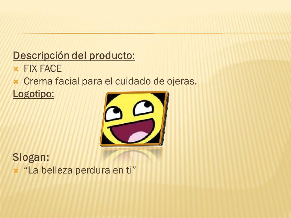 Descripción del producto: FIX FACE Crema facial para el cuidado de ojeras.