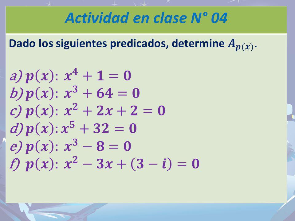 Thank you! Actividad en clase N° 04