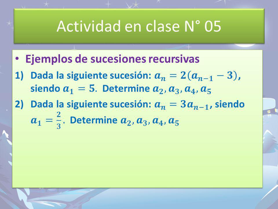 Actividad en clase N° 05