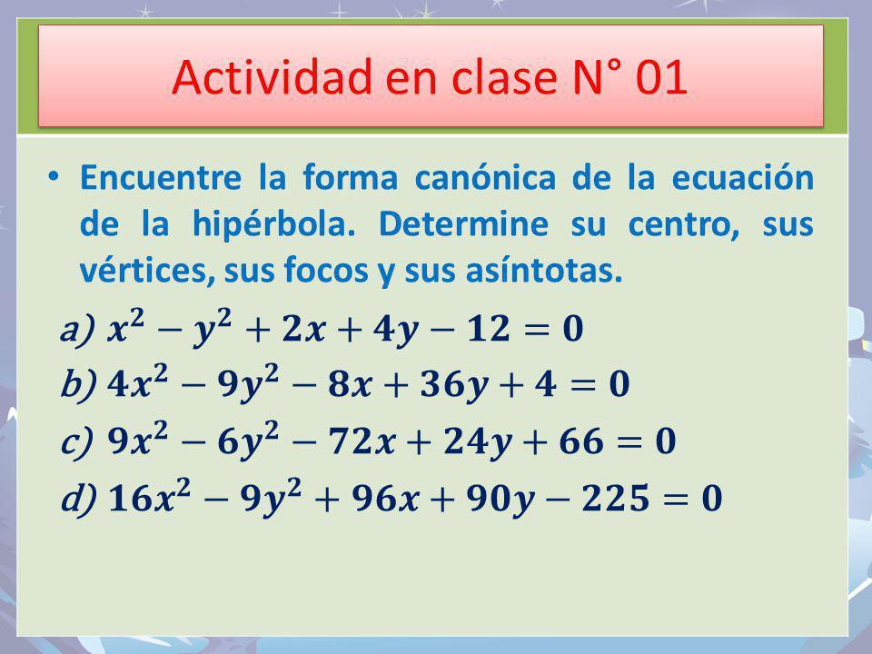 Actividad en clase N° 01