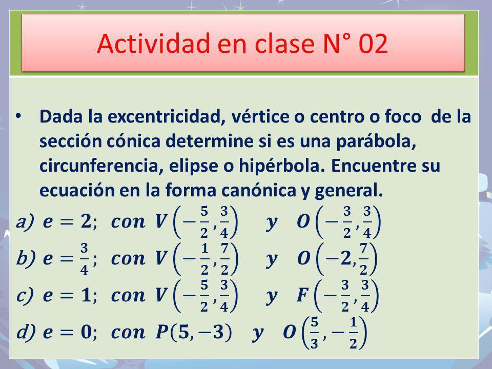 Actividad en clase N° 02