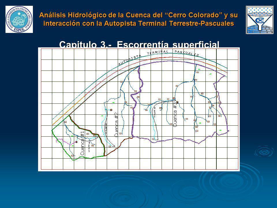 Capitulo 3.- Escorrentía superficial Análisis Hidrológico de la Cuenca del Cerro Colorado y su interacción con la Autopista Terminal Terrestre-Pascual